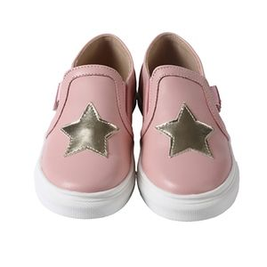 5a66e19639 Girls Boys Classic Slip On Canvas Star Sneakers